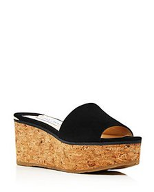 Jimmy Choo - Women's Deedee 80 Platform Slide Sand