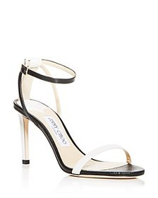 Jimmy Choo - Women's Minny 85 Lizard-Embossed High