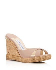 Jimmy Choo - Women's Almer Leather & Braid Trim Pl