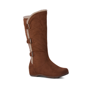 Womens Wanted Fortune Sherling Trim Mid-Calf Boots