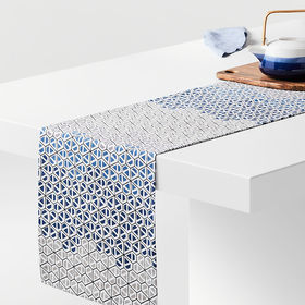 "Crate Barrel Hive 90"" Honeycomb Table Runner"