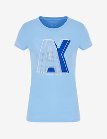 Armani REGULAR-FIT TEE WITH LOGO LETTERING