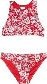 Roxy Kids Enjoying Waves Crop Top Swim Set (Big Ki