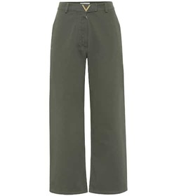 Valentino High-rise wide-leg cotton pants