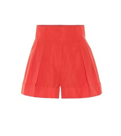 Valentino Cotton-blend high-rise shorts