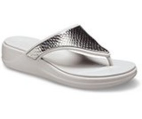 Women's Crocs Monterey Metallic Wedge Flip