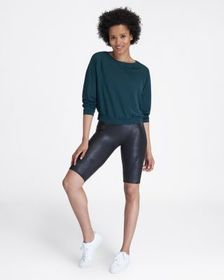 Spanx Faux Leather Moto Bike Short
