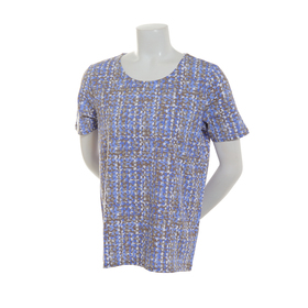 Plus Size Hasting & Smith Short Sleeve Blurred Pri
