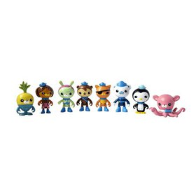 Octonauts Octo-Crew 3 Inch Mini Figure Set | 8 Fig