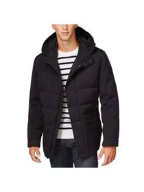 Michael Kors Mens Big & Tall Down Parka Coat, blue