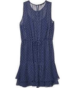 Tommy Hilfiger Chiffon Dot Flounce Hem Dress