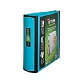 Staples 2 3-Ring Better Binder, Teal (13470-CC)