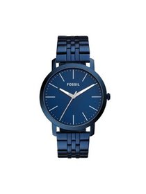 Fossil Men's Luther Three Hand Ocean Blue Stainles