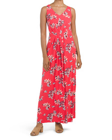 NICOLE MILLER Printed Pleated Maxi Dress