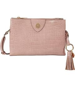 Anne Klein A-Hinge Croco Crossbody