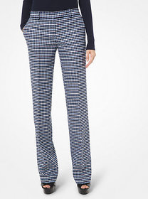 Michael Kors Tattersall Stretch Wool Gabardine Tro