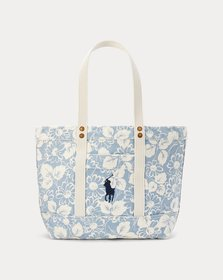 Ralph Lauren Canvas Floral Medium Tote