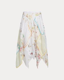 Ralph Lauren Quilted Handkerchief Skirt