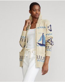 Ralph Lauren Full-Zip Shawl Cardigan