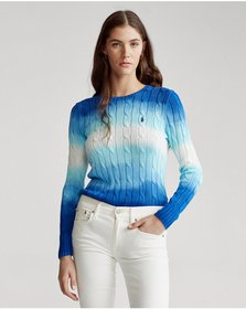 Ralph Lauren Tie-Dye Cable Cotton Sweater