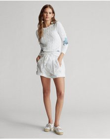 Ralph Lauren Eyelet Cotton Short