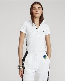 Ralph Lauren Beaded-Trim Polo Shirt