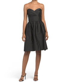 ALFRED SUNG Strapless Cocktail Dress With Pockets