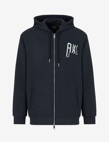 Armani HOODED ZIP-UP CARDIGAN SWEATSHIRT