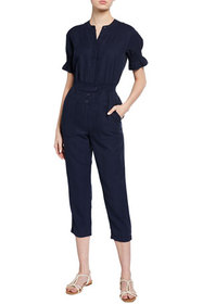 Joie Fritzie Puff-Sleeve Jumpsuit