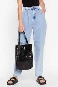 Nasty Gal Black WANT Shine is Now Tote Bag