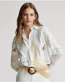 Ralph Lauren Cotton Voile Patchwork Shirt