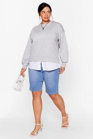 Nasty Gal Grey Chill Next Time Plus Relaxed Sweats