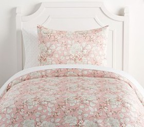 Pottery Barn Tencel® Rose Toile Duvet Cover