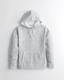 Hollister Icon Hoodie, LIGHT HEATHER GREY