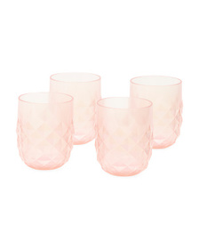C&C CALIFORNIA 4pk Outdoor Diamond Stemless Melami