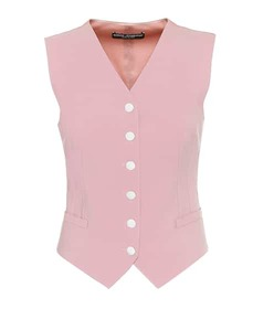 Dolce & Gabbana Wool-blend and satin vest
