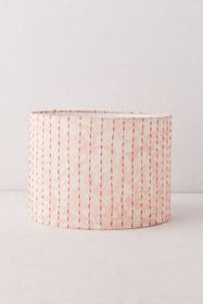 Bleached Floral Embroidered Lamp Shade