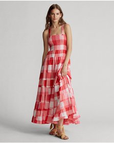Ralph Lauren Plaid Cotton Maxidress