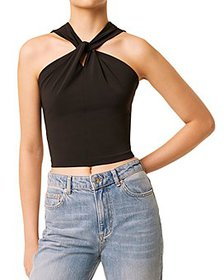 FRENCH CONNECTION - Panthea Twisted Halter Top