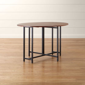 Crate Barrel Origami Drop Leaf Oval Dining Table
