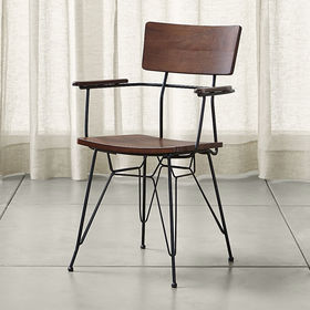 Crate Barrel Elston Dining Arm Chair