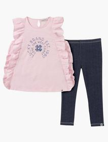 Lucky Brand 12m-24m Two Piece Pink Ruffle Set