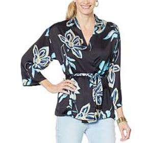 """""""As Is"""" Vanessa Williams Printed Charmeuse Floral"""