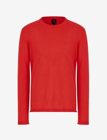 Armani CREW-NECK SWEATER WITH REFLECTIVE LOGO