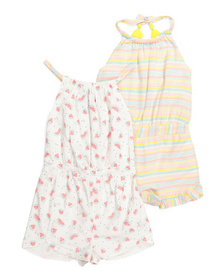 CYNTHIA ROWLEY Toddler Girl 2pk Watermelon Rompers