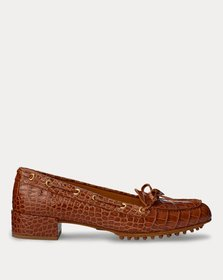 Ralph Lauren Lyssa Embossed Calfskin Loafer