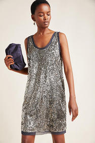 Anthropologie Carmela Sequined Mini Dress