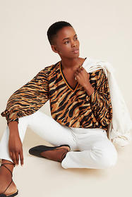 Anthropologie Patrice Puff-Sleeved Blouse