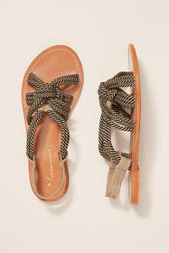 Anthropologie Lyndsey Knotted Sandals