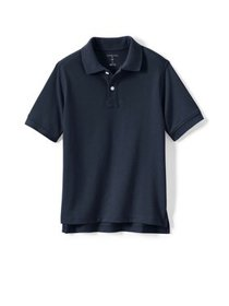 Lands' End Boys School Uniform Short Sleeve Pique